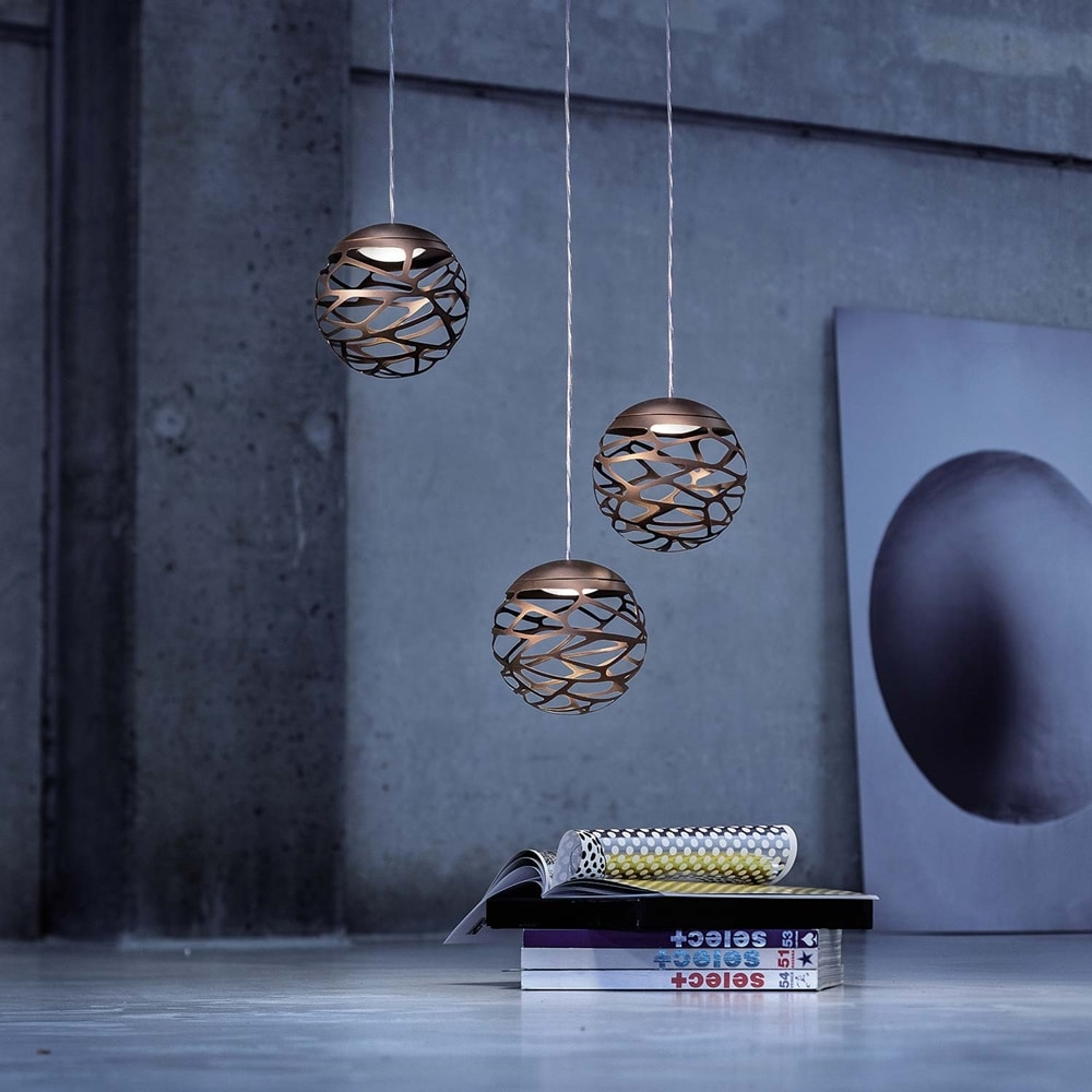 Kelly cluster taklampa 3 LED Brons