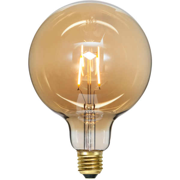 Glob 125mm E27 LED plain amber