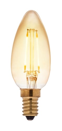 Kronljus LED filament antique 2W