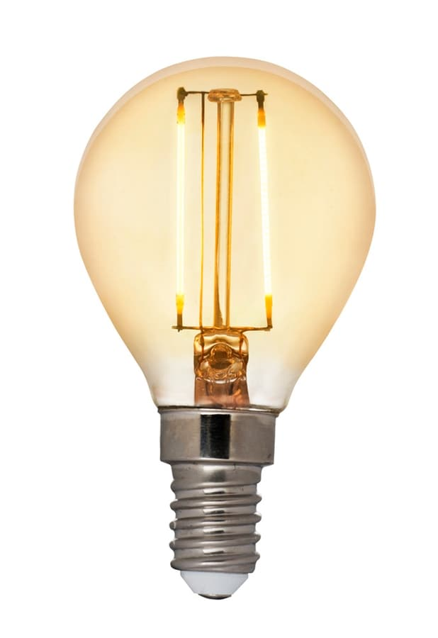 Klotlampa filament antique LED 2W E14