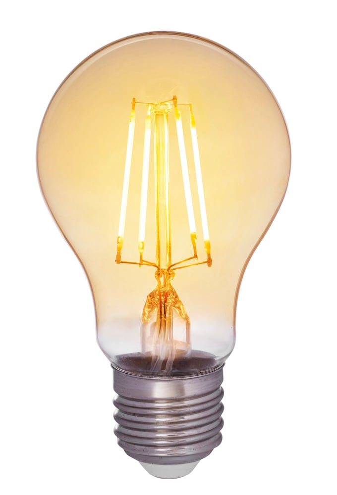 Normallampa filament antique LED 5W E27 dim
