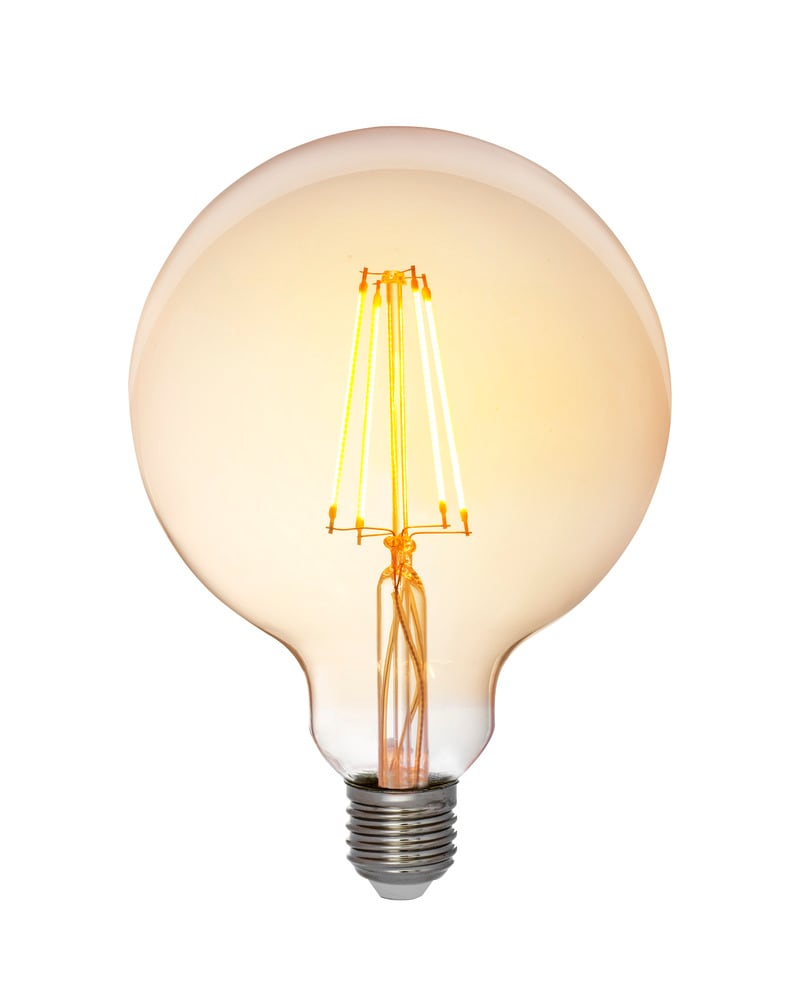 Glob LED antique 125mm E27 5W dimbar
