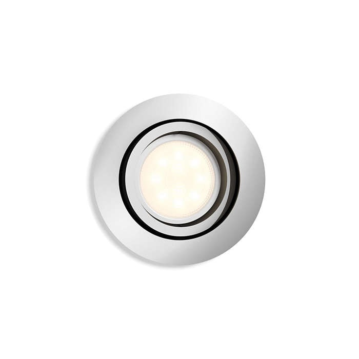 Shellbark spotlight LED krom 4,5W