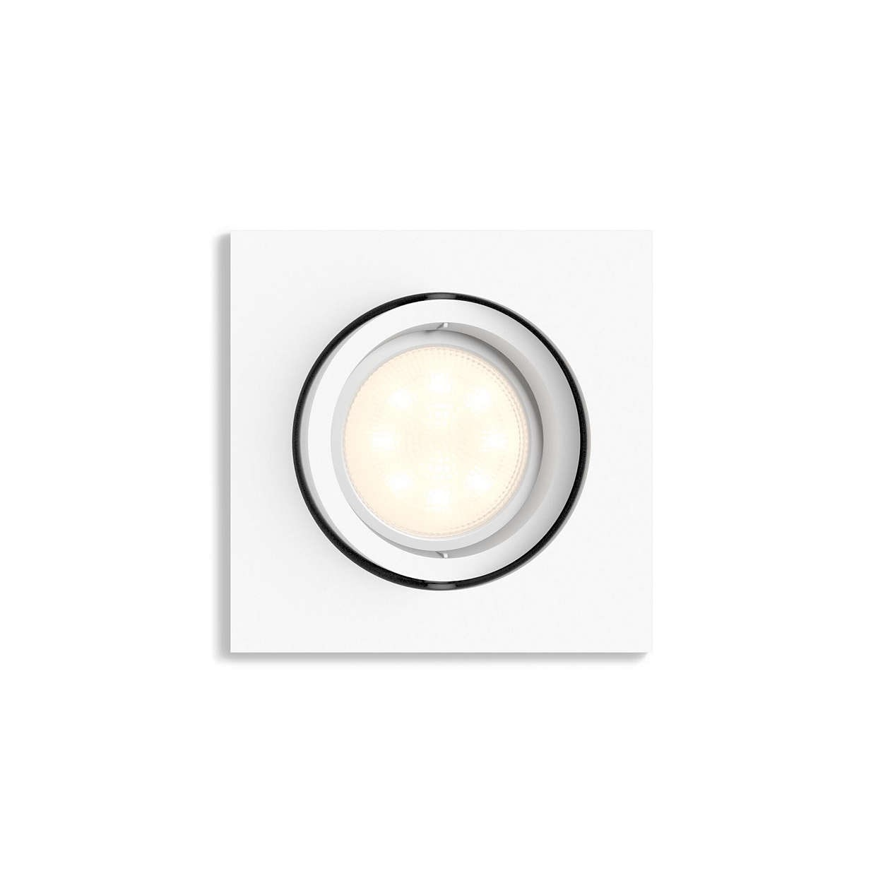 Shellbark kub spotlight LED vit 4,5W