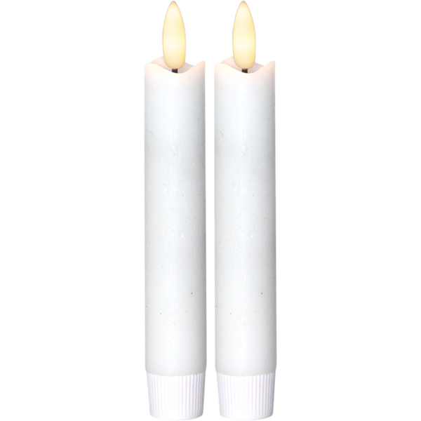 Antikljus LED 2-pack flamme 15cm