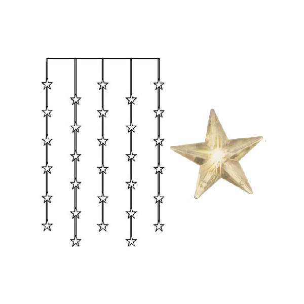 Ljusgardin star curtain