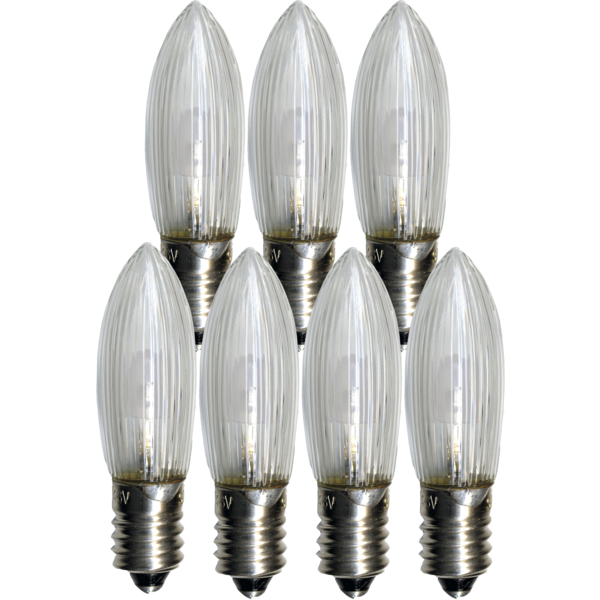 Reservlampa E10 LED 0,2W 7-pack